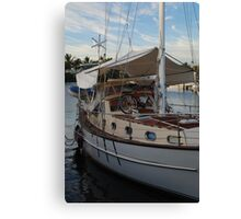 Two boats and a bike Canvas Print