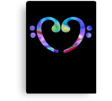 Music Heart  Notes Canvas Print