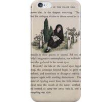 The Queen of Pirate Isle Bret Harte, Edmund Evans, Kate Greenaway 1886 0046 Graveyard iPhone Case/Skin