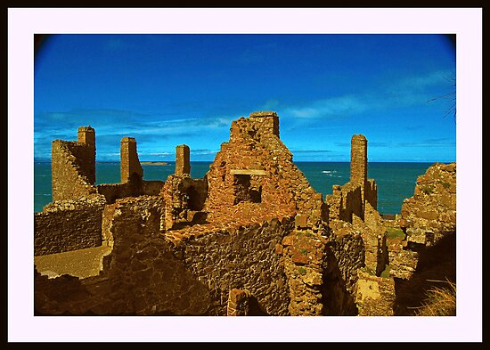 Gaunt ruins of Dunluce Castle by Ferdinand Lucino