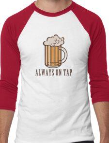 Draft Beer: Always on Tap Men's Baseball ¾ T-Shirt