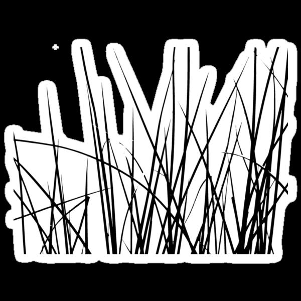 Water grass (black) (T-Shirt) by Lenka
