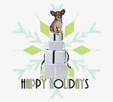 Papillon Holiday Dog by Doreen Erhardt