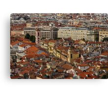 Red Roofs of Europe - Nice, France, French Riviera Canvas Print