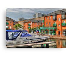 Marina village (HDR) Canvas Print