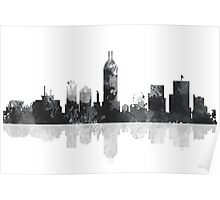 Indiana Indianapolis Skyline Poster
