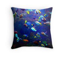Colorful Ocean Fish Throw Pillow