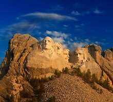 Sunrise over Mount Rushmore National Memorial by Alex Preiss