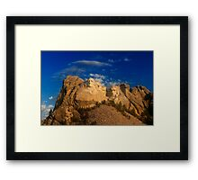 Sunrise over Mount Rushmore National Memorial Framed Print