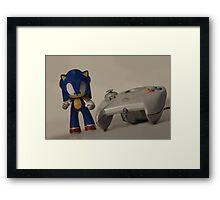 Sonic & Dreamcast Framed Print