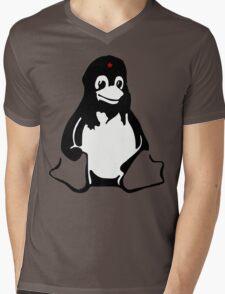 Linux tux Penguin Che  Mens V-Neck T-Shirt