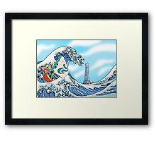 Zelda: WindWaker - Great Wave Framed Print