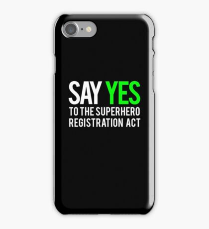 Civil War - Say Yes - White Clean iPhone Case/Skin