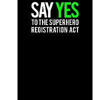 Civil War - Say Yes - White Clean Photographic Print
