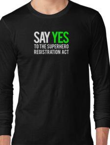 Civil War - Say Yes - White Clean Long Sleeve T-Shirt