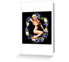 GIVEAFUCK Floral Greeting Card