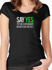 Civil War - Say Yes - White Dirty Women's Fitted Scoop T-Shirt