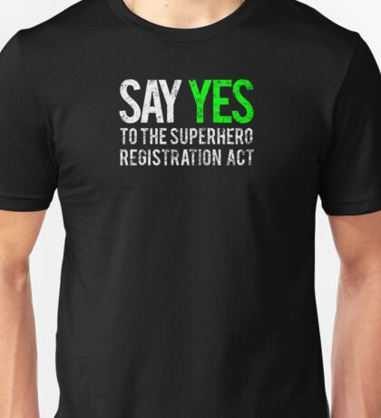 Civil War - Say Yes - White Dirty Unisex T-Shirt