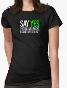 Civil War - Say Yes - White Dirty Womens Fitted T-Shirt