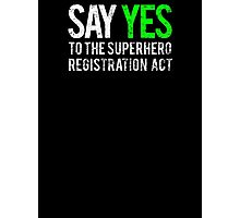 Civil War - Say Yes - White Dirty Photographic Print