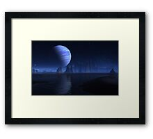Down Home Alien Blue's Framed Print