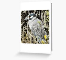 blue bill Greeting Card