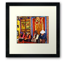 Tibetan old womens  Framed Print