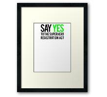 Civil War - Say Yes - Black Dirty Framed Print