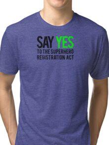 Civil War - Say Yes - Black Dirty Tri-blend T-Shirt