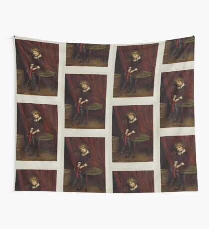 Kate Greenaway Collection 1905 0267 The Red Boy Wall Tapestry