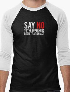 Civil War - Say No - White Clean Men's Baseball ¾ T-Shirt