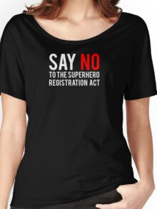 Civil War - Say No - White Clean Women's Relaxed Fit T-Shirt