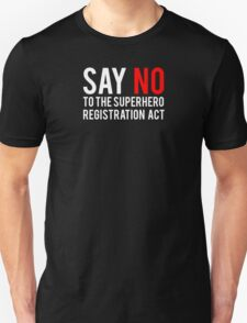 Civil War - Say No - White Clean Unisex T-Shirt