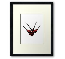 Red Swallow Tattoo Framed Print