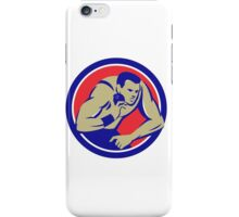 Shot Put Track and Field Athlete Circle Retro iPhone Case/Skin