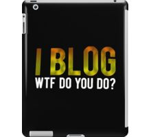 I BLOG iPad Case/Skin