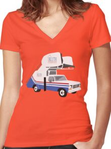 You'll get some Hop Ons Women's Fitted V-Neck T-Shirt