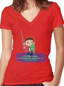 Fishing for Ink Women's Fitted V-Neck T-Shirt