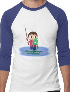 Fishing for Ink Men's Baseball ¾ T-Shirt