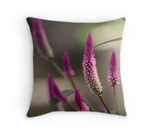 """Purple Tails"" Throw Pillow"