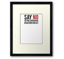 Civil War - Say No - Black Dirty Framed Print