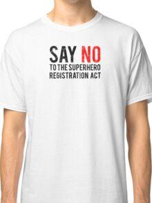 Civil War - Say No - Black Dirty Classic T-Shirt