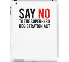 Civil War - Say No - Black Dirty iPad Case/Skin