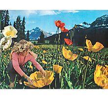 Rocky Mountain Flower Girl Photographic Print