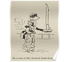 Kate Greenaway Collection 1905 0215 On a Letter to Mrs Frederic Locker Lampton Poster
