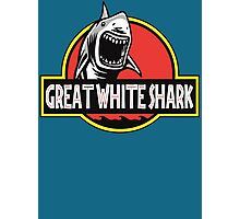 Great White Shark Jurassic Parody T Shirt Photographic Print