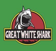 Great White Shark Jurassic Parody T Shirt Kids Clothes