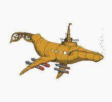 Whale Submarine Kids Tee