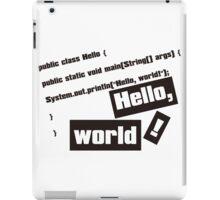 Hello, World! iPad Case/Skin