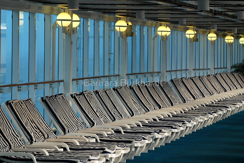 Parallel Parking - Deck Chairs by Barbara Burkhardt